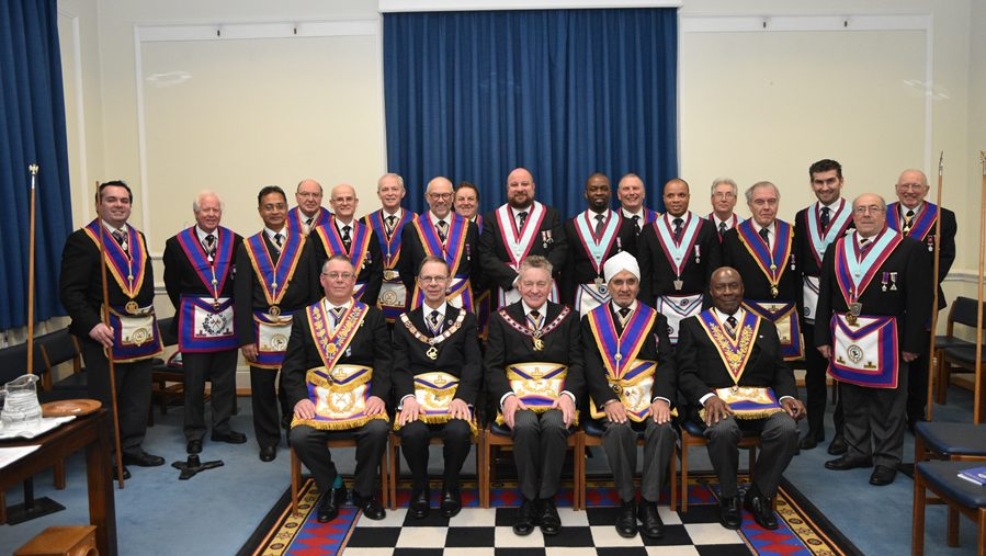 APGM W. Bro. Henry Hobson and a delegation of Provincial Grand Officers visit King Solomon Lodge