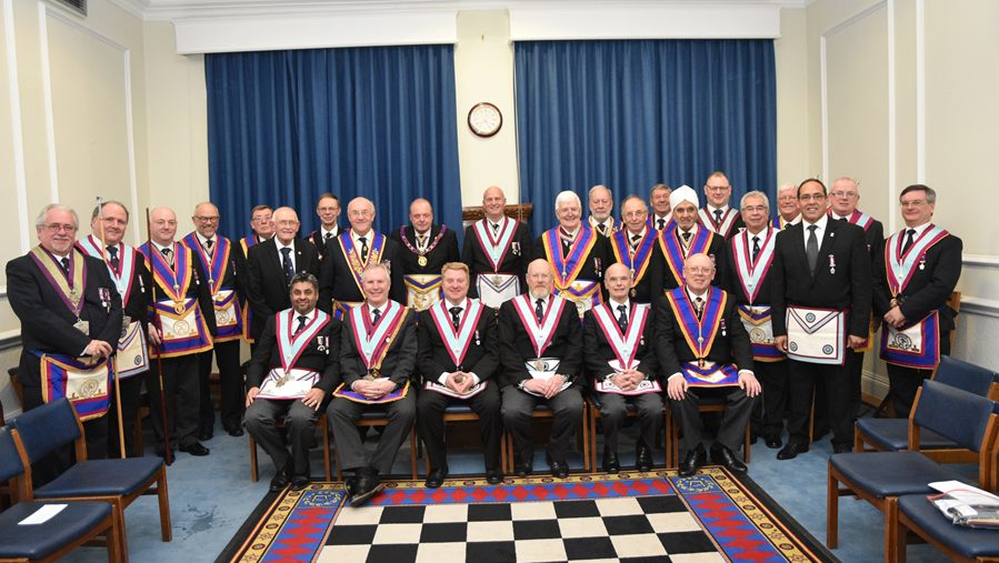 APGM W. Bro. Tim MacAndrews and a delegation of Provincial Grand Officers visit Macdonald Lodge