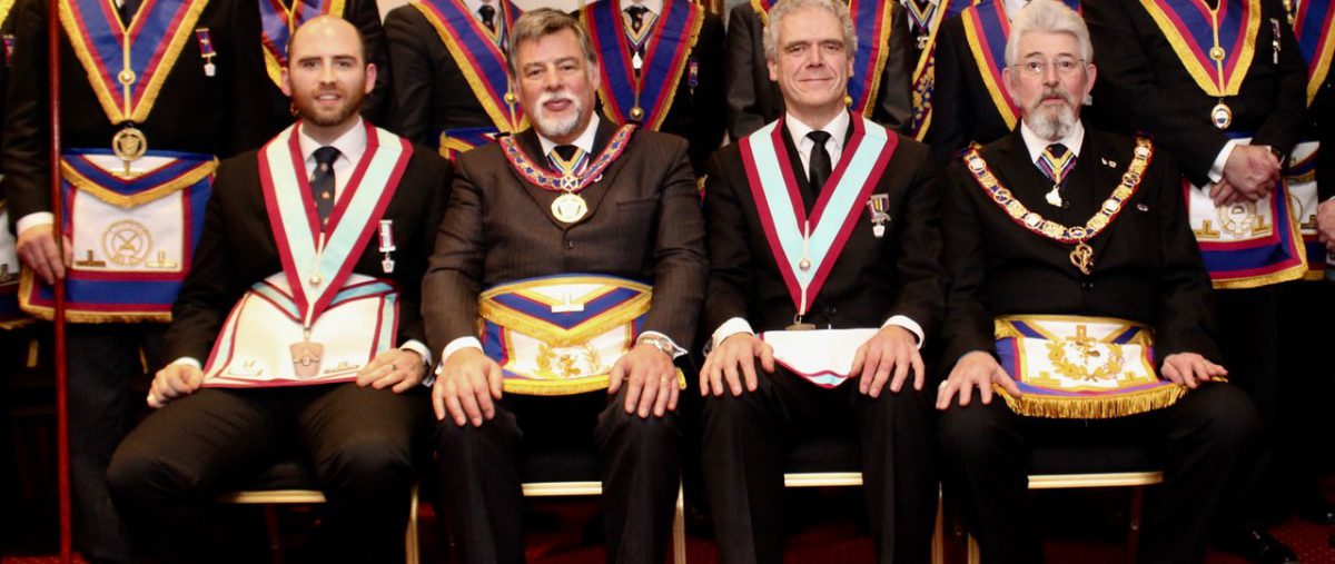 APGM W. Bro. Clifford Sturt PGJD and a Delegation at Vaudeville Lodge No. 801 on 8th January 2018