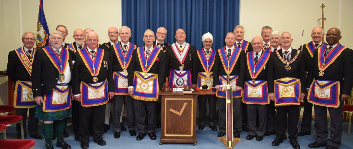 RW PGM David Ashbolt and Delegation on a Full Team Visit to Scots Lodge No 406 with the Mad Axeman in tow!!