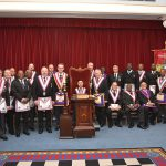W. Bro. Harvey Roland, Provincial Grand Senior Warden, and a delegation of Provincial Grand Officers visit Carnarvon Lodge No 616 on 10th February 2018.