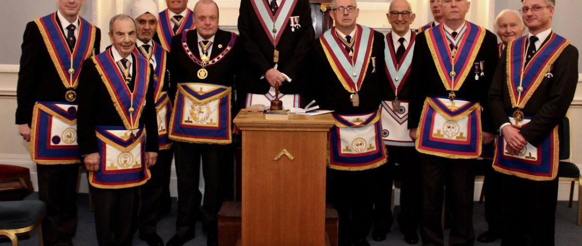 APGM W. Bro. Tim MacAndrews PGJD and a Delegation of Provincial Grand Officers visit New Era Lodge 3rd February 2018