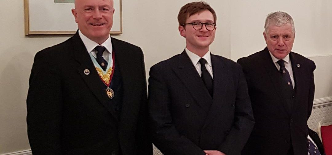 DPGM, Tom Quinn, visits Dramatic Mark, accompanied by a good-sized Delegation 12 February