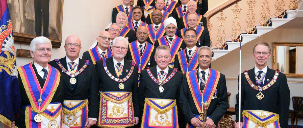 PGM David Ashbolt and a Full Team visit Mahajan Lodge on 12th March 2018