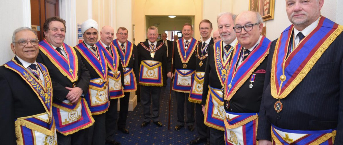 APGM Henry Hobson and his Delegation visit Irenic Lodge on Wednesday 18th April 2018