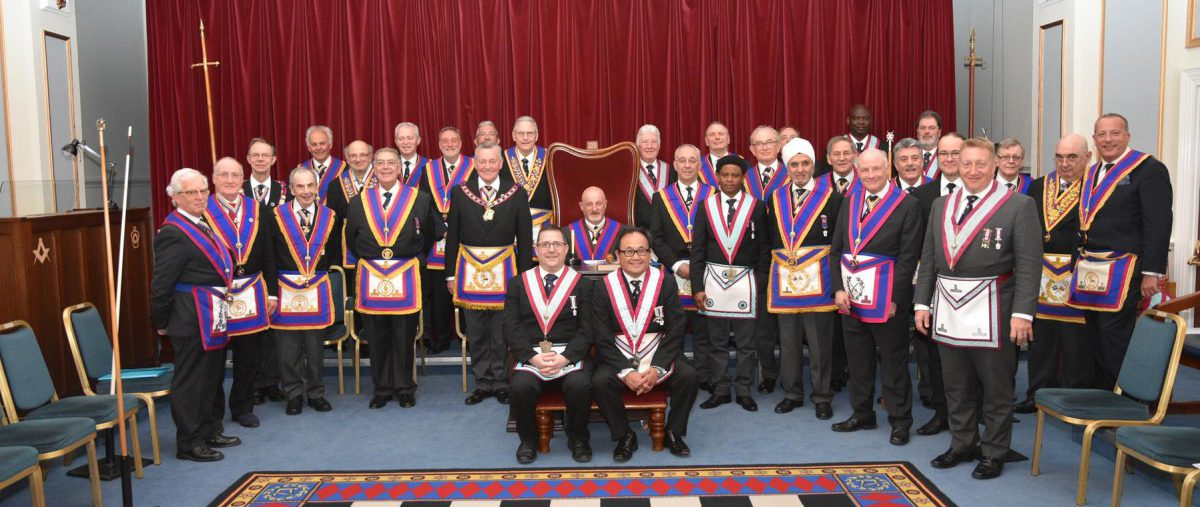 The Assistant Provincial Grand Master W. Bro. Henry Hobson and a delegation of Provincial Grand Officers visit Polytechnic lodge on the 17th April 2018.