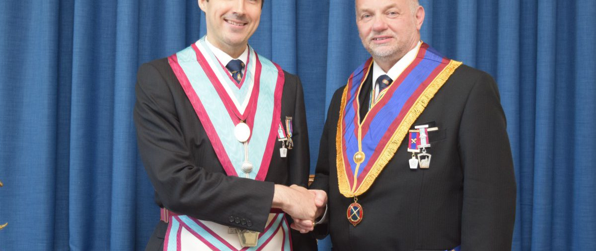 KSQ Lodge welcomes Bro Shawn Christie, Asst G Sec, UGLE as their new Master