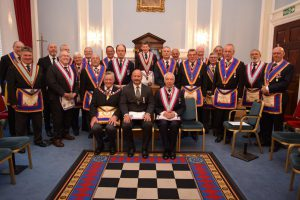 APGM Henry Hobson and a large Delegation visit Prince of Wales No.4