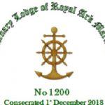Consecration of Centenary RAM Lodge No.1200 on 1 December, 2018