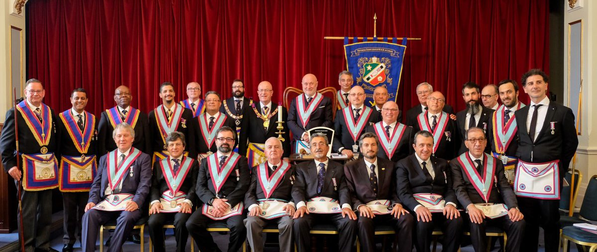 The Deputy Provincial Grand Master W. Bro. Tom Quinn and a Provincial Delegation visit Italia Lodge on the 11th June 2018