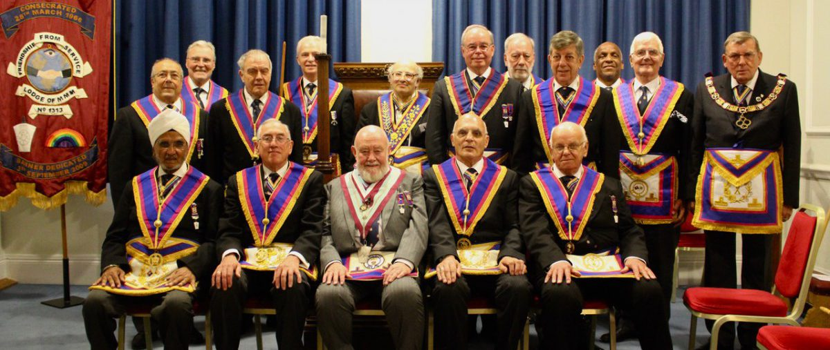 Visit of W Bro Howard Markham PGJD Provincial Grand Junior Warden to Friendship from Service Lodge No 1313 2nd July 2018