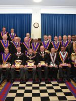 The Deputy Provincial Grand Master VW. Bro. Tom Quinn pays an unexpected visit to Meridian Lodge accompanied by a large number of Provincial Grand Officers on the 19th September.