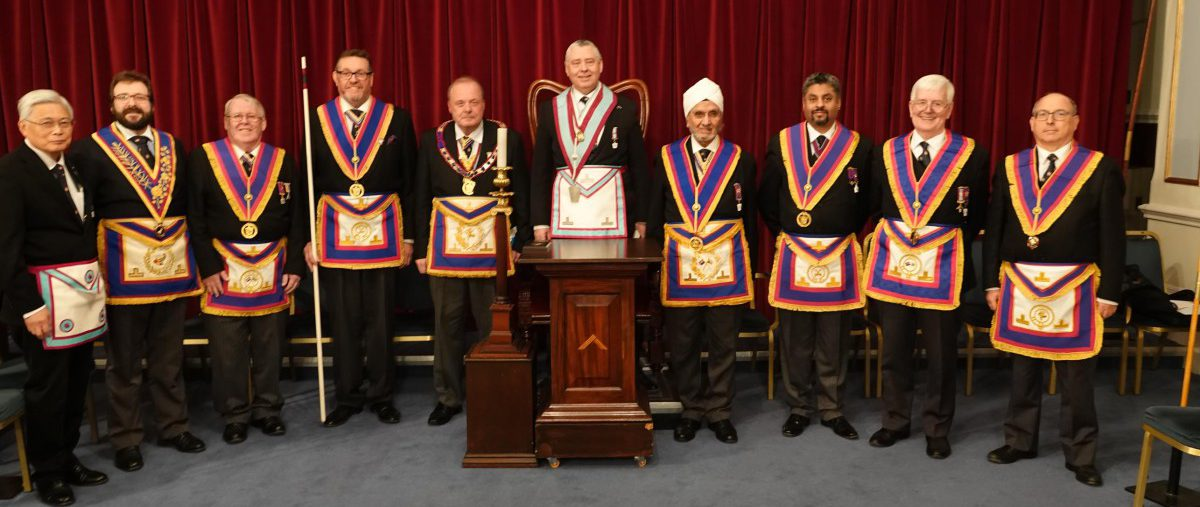 APGM Tim MacAndrews and a Delegation of Provincial Officers visit Piscator Lodge