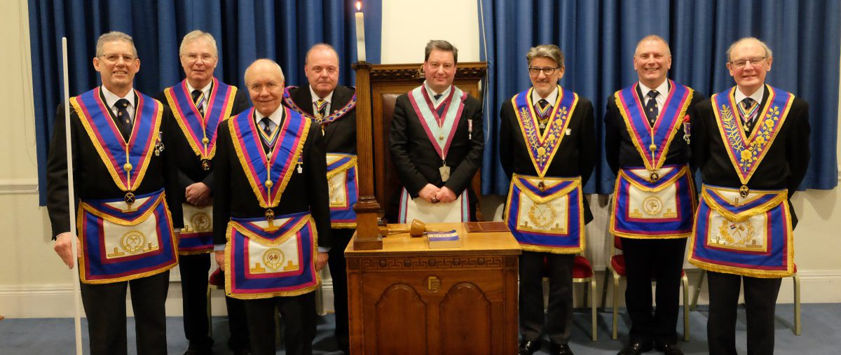 APGM Tim MacAndrews and his Delegation visit Kelvin Lodge No.742 on Tuesday 22nd January