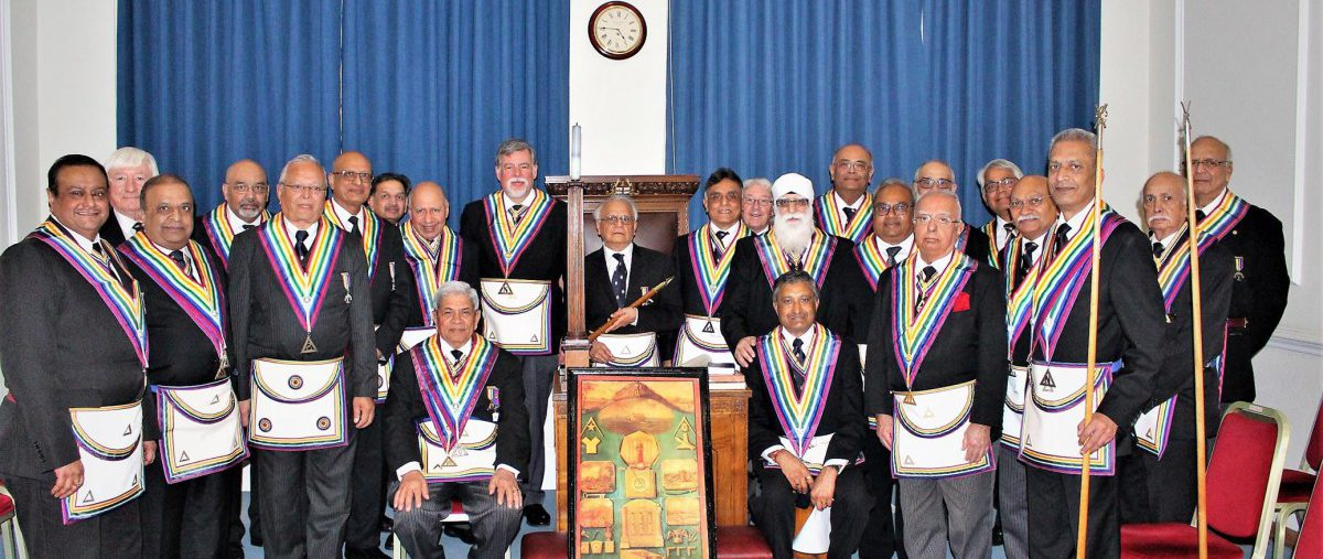 APGM Cliff Sturt and a Delegation visit London East Africa Lodge No: 1604 on 23rd February 2019