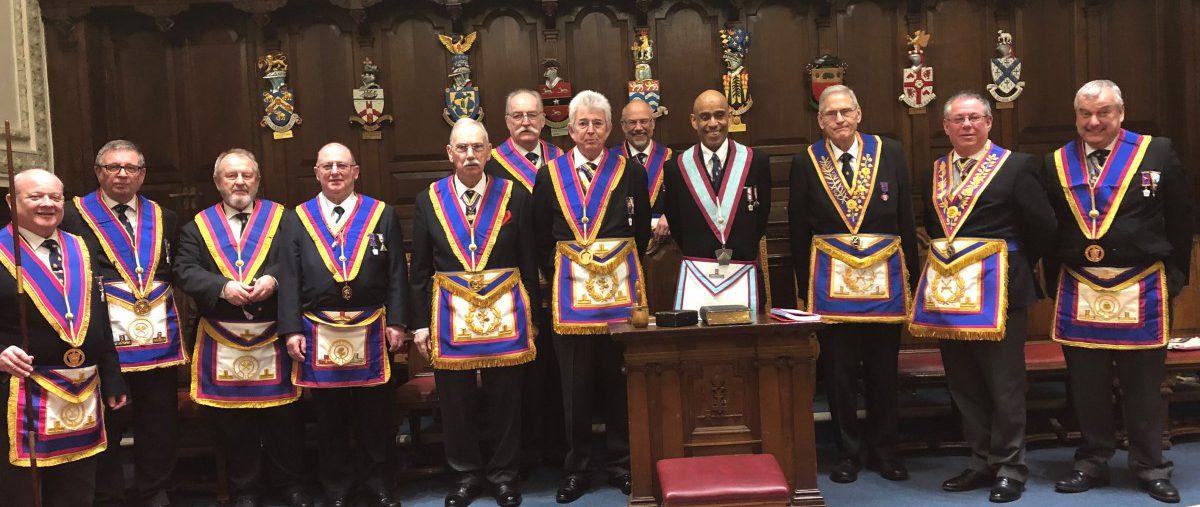 Athlumney Menatschim Lodge No 224 receives the Provincial Grand Secretary, Alan White accompanied by his delegation 13/02/2019