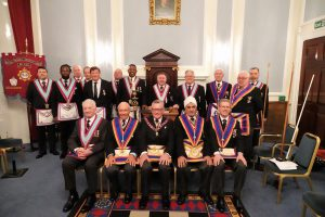 Royal Colonial Institute visit from W Bro Henry Hobson, APGM, and a Provincial Delegation.