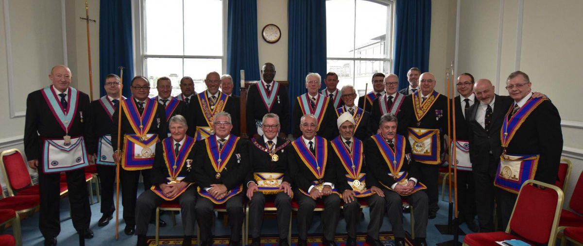 W. Bro. Henry Hobson, APGM and a delegation of Provincial Grand Officers visited Polytechnic Lodge on the 18th June 2019.