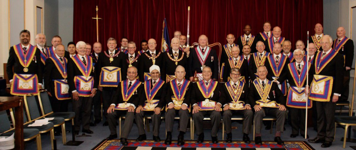 Presentation to RW Provincial Grand Master David Frederick Ashbolt at the Meeting of Prince Leopold Lodge No: 238 on 26th June 2019