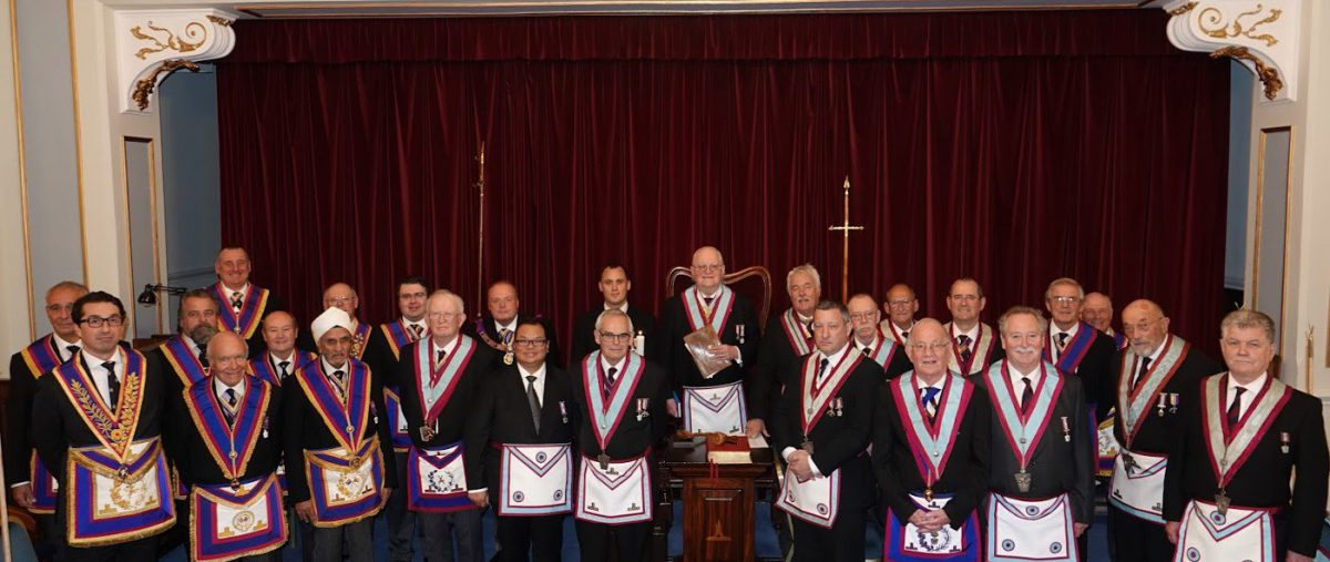 Mallet & Chisel Lodge No. 5 welcomed DPGM W Bro Tim MacAndrews PGJD and Delegation on 8th October 2019