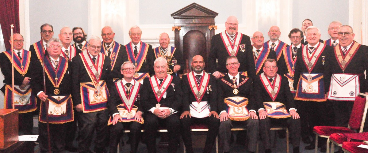 Thistle Lodge Number 8 welcomed APGM W Bro David Lucas PGJD and Delegation on 8th October 2019