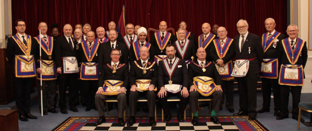 R W Provincial Grand Master R W Bro. Thomas Quinn and a Delegation visit Eclectic and Empress Britannic Lodge No. 410 on 11th November 2019