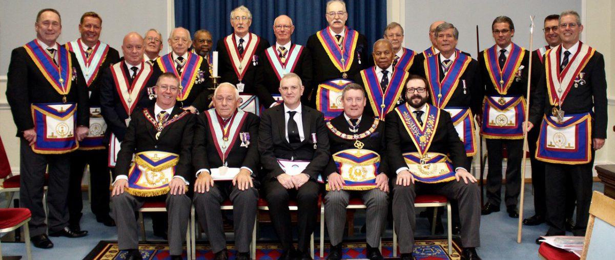 APGM W Bro David Lucas PGJD and a Delegation visit Guild of Freemen Lodge No. 647 on 14th Nov 2019