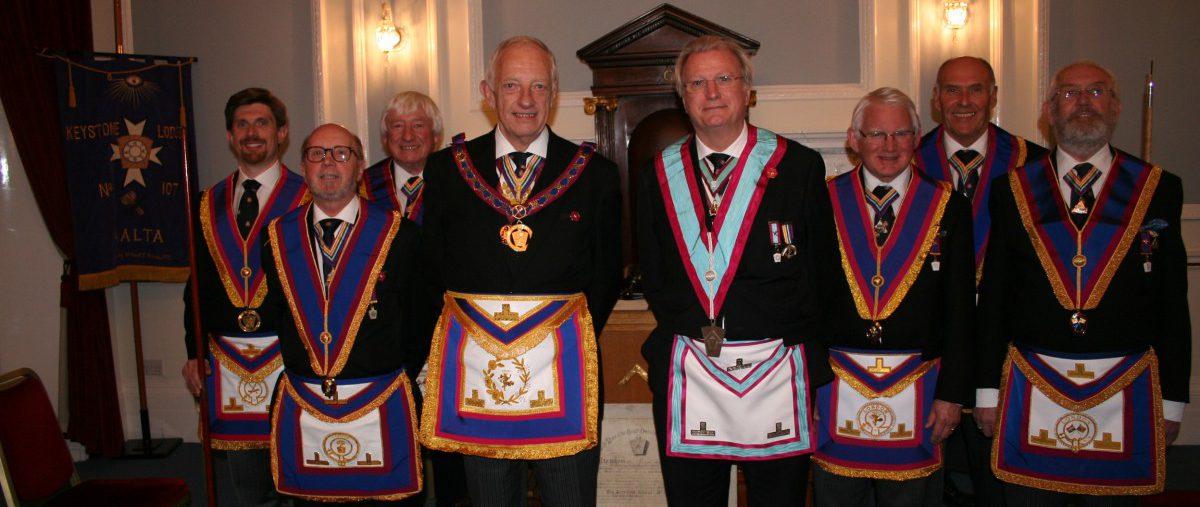 W Bro Wes Hollands, PGJD, APGM visits Keystone Lodge No 107 - 14th November 2019