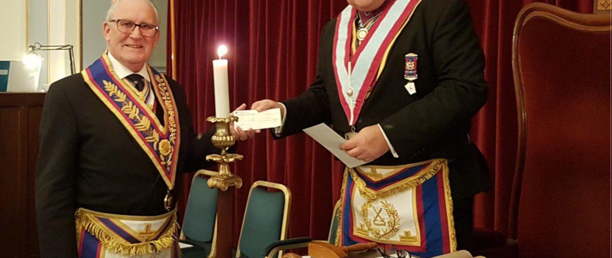 RW Provincial Grand Master Tom Quinn Installs New Master into the Chair of the Provincial Grand Stewards' Lodge