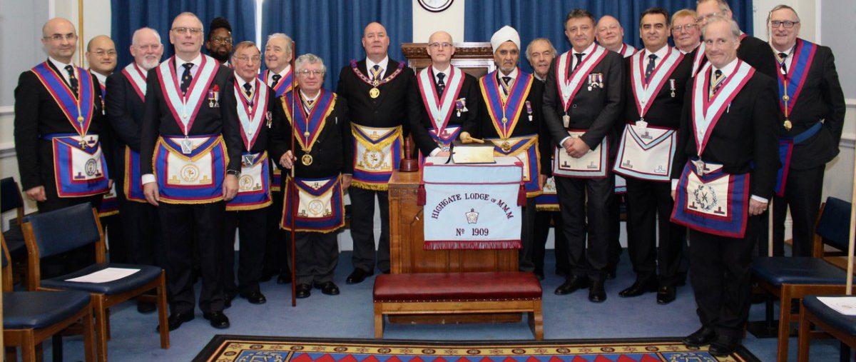 W Bro John Ellis PGJD Assistant Provincial Grand Master and a Delegation visit Highgate Lodge No. 1909 on 7th December 2019