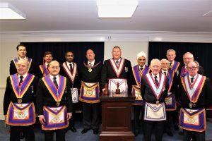 Composite Lodge No. 802 welcomes APGM, W. Bro John Ellis on 12th December 2019