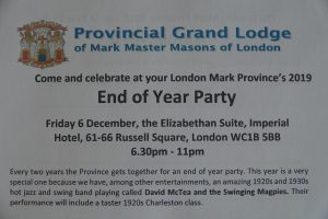 The Provincial end of year party took place at the Imperial Hotel on 6 December with over 150 members and their guests present.