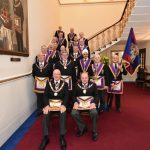 The Provincial Grand Master, RW. Bro. Tom Quinn leads the first Full Team Visit of the decade to Lodge of Clemency on the 11th January 2020 and what a good meeting it turned out to be.