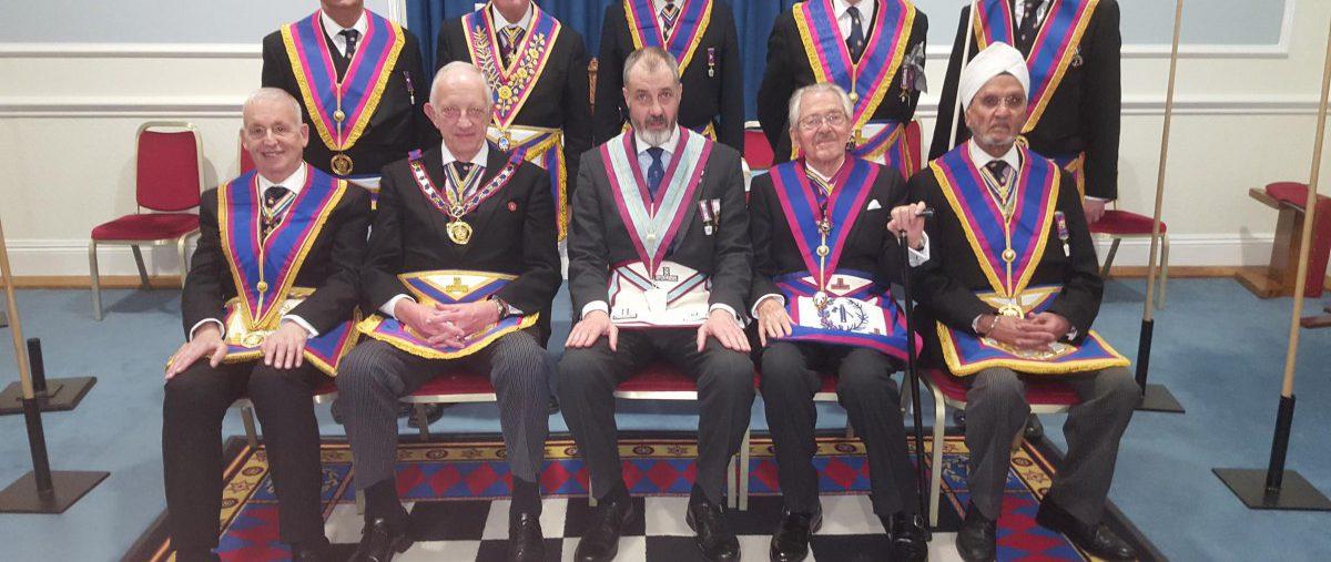APGM Wes Hollands and a Delegation of Provincial Officers visit Carnarvon No 7
