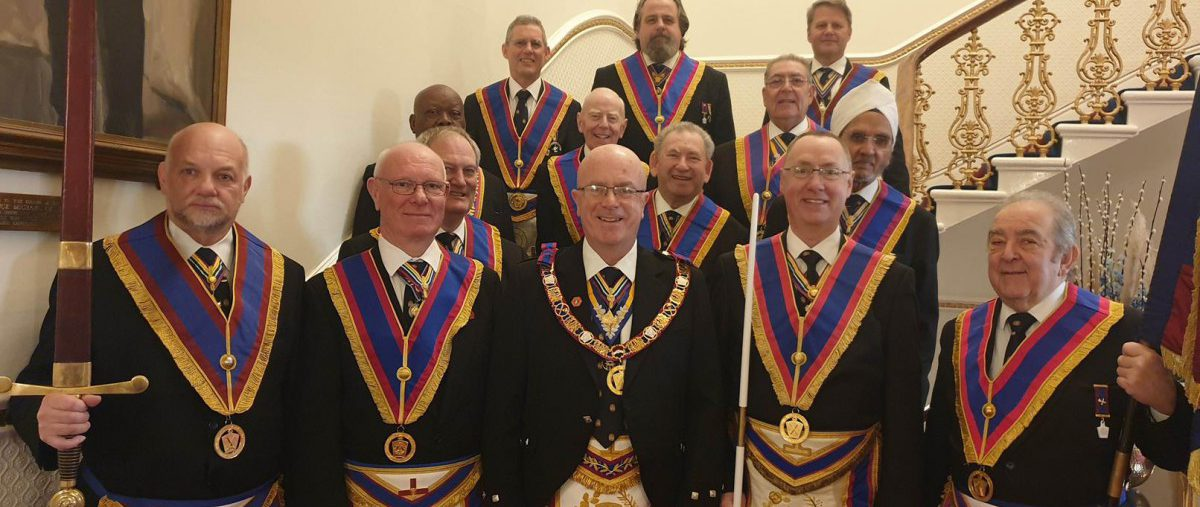 Full Team Visit by PGM & his team to Scots Lodge 406 on 17th February 2020