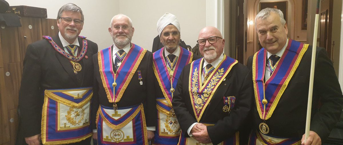W Bro Cliff Sturt accompanied by a small but delicately marked Delegation visit Wicket Lodge on 7th February