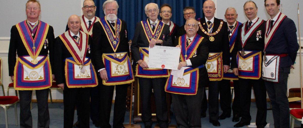 R W Prov. Grand Master R. W Bro. Thomas Quinn and a Delegation Visit Sanitarian Lodge No. 786 on 26th February 2020