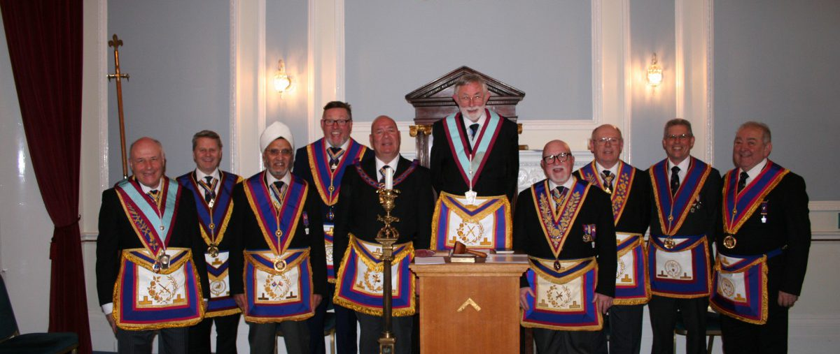 W Bro John Ellis, PGJD, APGM visits Johann Gutenberg Lodge No 976 - 3rd March 2020