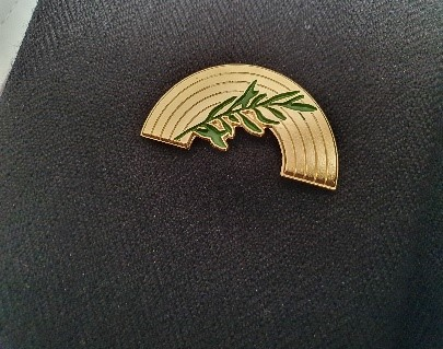 Olive Branch Pin for an excellent Elevation Ceremony