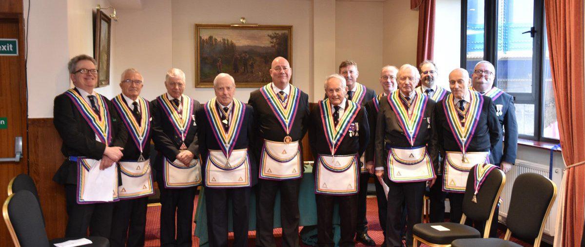 W. Bro. John Ellis APGM and a delegation visit Dramatic RAM Lodge at the Union Jack Club
